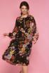 Платье Anelli 642 черный+цветы