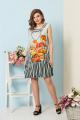 Платье Ольга Стиль С-532 оранж