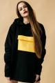 Худи Rawwwr clothing 040 черный/желтый