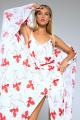 Платье LaVeLa L1955 молочный/красный_принт