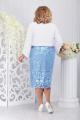 Жакет, Платье Ninele 5744 голубой+белый