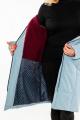Пальто Bugalux 937 164-серо-голубой
