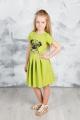 Платье GuliGuli П-49 зеленый+собака