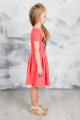 Платье GuliGuli П-49 коралл+собака