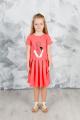 Платье GuliGuli П-49 коралл+кот