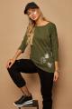 Блуза Lamajka L9243 оливковый