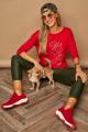 Блуза Lamajka L9259 красный