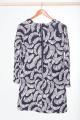 Платье Anelli 192 синий-перья