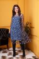 Платье Anastasia 376 синий-мелланж;сетка-синий