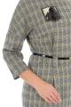 Платье, Ремень Effect-Style 692 серый,черный,горчичный