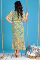 Платье Мода Юрс 2480 зеленый-желтый