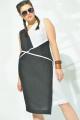 Платье MALI 419-003 черно-белый