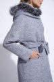 Пальто ElectraStyle НП3У-7007/6-256 серый