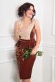 Платье Мода Юрс 2377 золотисто-коричневый