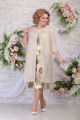 Платье, Накидка Ninele 2248 бежево-коричневый