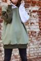 Худи Rawwwr clothing 127 белый-хаки-оливковый