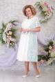 Платье Ninele 7285 молоко-зеленый