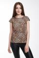 Блуза Madech 182226 коричневый,бежевый