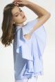 Блуза LaVeLa L50134 голубой/полоска