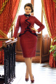 Платье Мода Юрс 2575 красно-синий