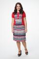 Платье Melissena 805 красный-белый-синий