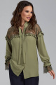 Блуза Teffi Style L-1473 олива