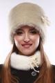 Шапка Зима Фэшн 011-1-05 молочно-серый_под_норку