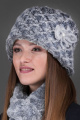 Шапка Зима Фэшн 011-3-12 серый_под_каракуль