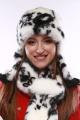 Шапка Зима Фэшн 022-1-10 черно-белый_под_норку