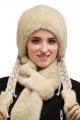 Шапка Зима Фэшн 023-1-05 молочно-серый_под_норку
