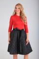Платье SVT-fashion 520 черный/красный