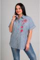 Блуза Таир-Гранд 62308 зеленая-полоска