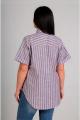 Блуза Таир-Гранд 62308 теракотовая-полоска