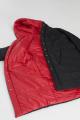 Пальто Pretty 1208 черный-красный