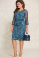 Платье Vittoria Queen 12903 морская-волна