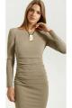 Платье Vladini 4139 бежевый