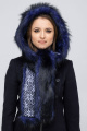 Шапка Зима Фэшн 031-4-25 синий под лису