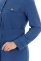Платье, Пояс Almila-Lux 1059 джинсовый