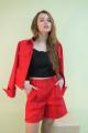 Куртка Lady Smile 02к красно-кораловый