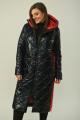 Пальто Diamant 1603 черный+красный