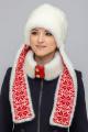 Шапка Зима Фэшн 025Т-1-01K молочный_под_норку