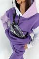 Худи Rawwwr clothing 127-начес фиолетовый-белый-лиловый