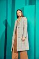 Пальто ElectraStyle 4-5642-011 сер-бел