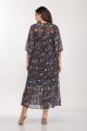 Туника, Платье Lady Style Classic 1802 темно-синий_цветы
