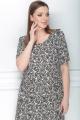 Платье LeNata 11025 на-бежевом-рисунок