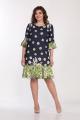 Туника, Платье Lady Style Classic 1566/8 темно-синий_салат
