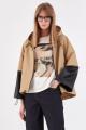 Куртка Lakbi 52150 бежевый+черный