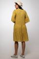 Платье La rouge 5352 желтый-набивной