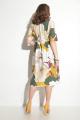 Платье Michel chic 2004 бежевый+цветы