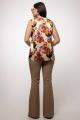 Блуза La rouge 3152 цветы-набивной